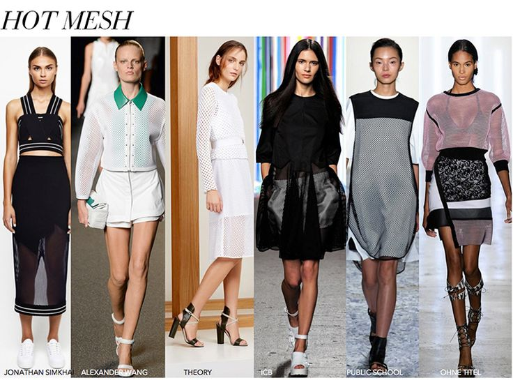 Hot Mesh for Spring 2015: Sporty streamlined and edgy silhouettes are no longer just for the gym.