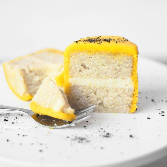 Mini påskekager med citron, marcipan, hvid chokolade og lakrids