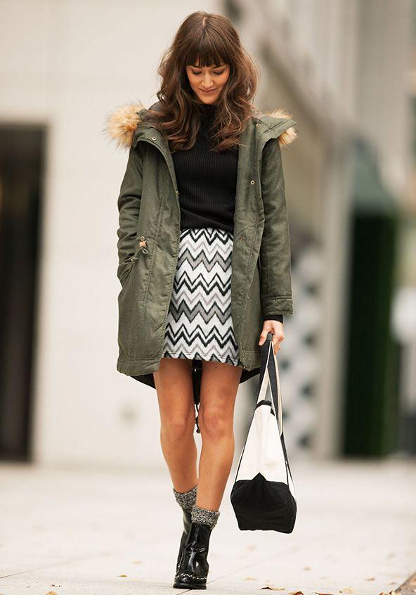 起毛ネイティブ柄台形スカート | 【スタイレスト】コーディネート型ファッション通販サイト【STYLEST通販】