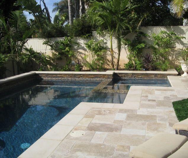 travertine pool decking stone pool deck