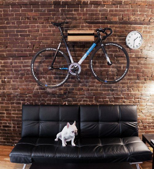 bike on the wall