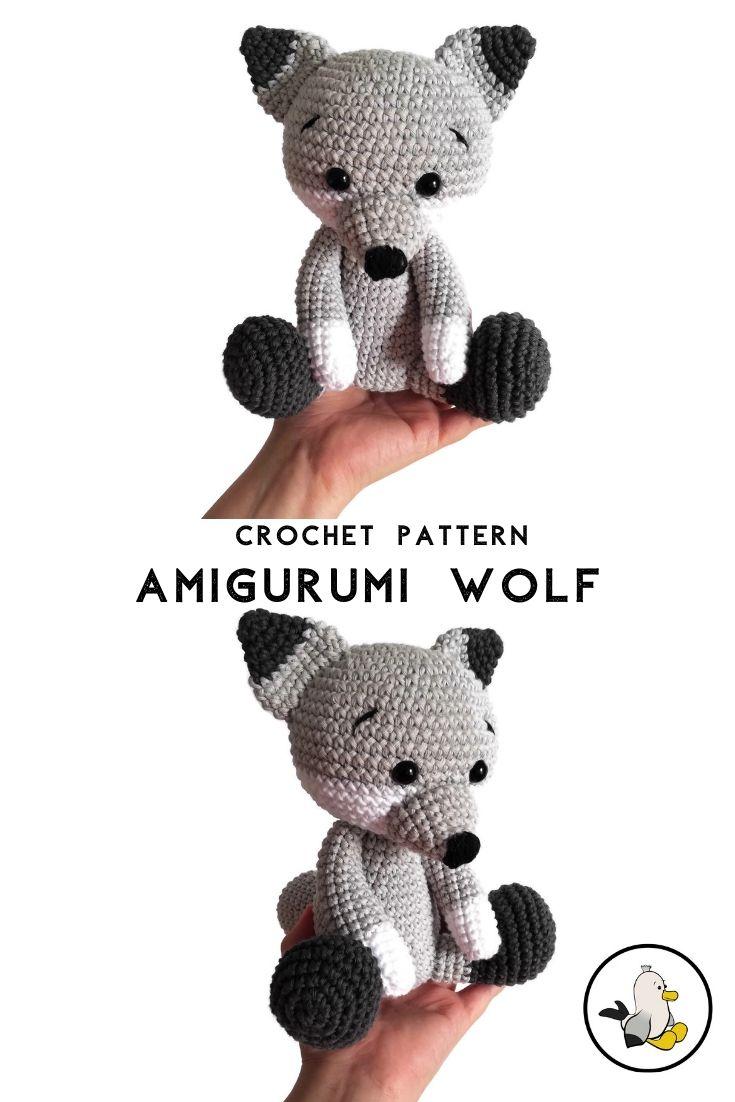 Ravelry: Baby Wolf Amigurumi pattern by Amanda Maciel | 1102x735