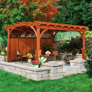 Wood Rectangle Pergola | Heartland Style Pergola Kits www.gazebos.com