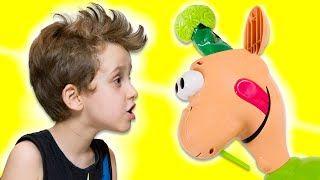 Desafio Cata Catota com George da Peppa Pig Brinquedos para Crianças Gooey Louie Toys Kids - YouTube