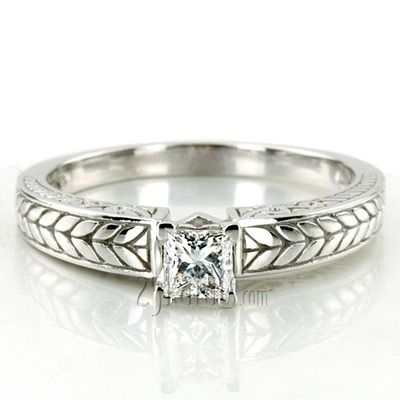 Prong Set Solitaire Antique Diamond Engagement Ring #antique #diamond #25karats