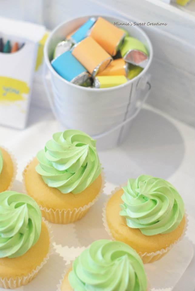 Boys Neon Art Themed Birthday Party Food Dessert Cupcake Ideas