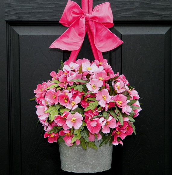 just beautiful! what a great idea for a door decoration instead of a wreath! enter to win this beauty on my blog Inspired by Charm! http://www.inspiredbycharm.com/2012/04/another-door-decor-giveaway-from-ever.html