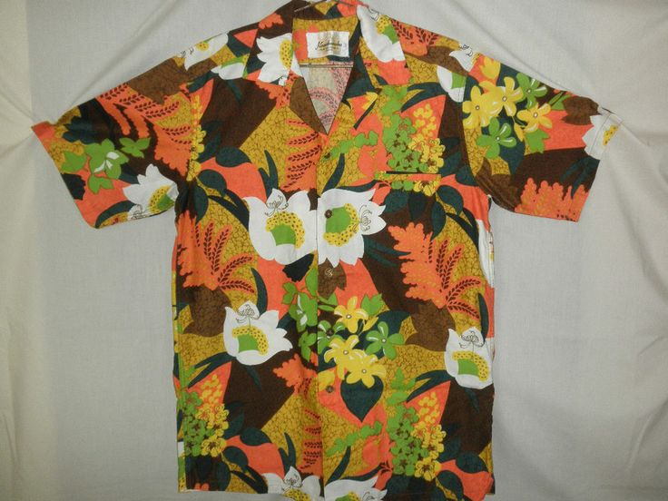 Vintage Kamehameha Made And Styled In Hawaii Bold Floral