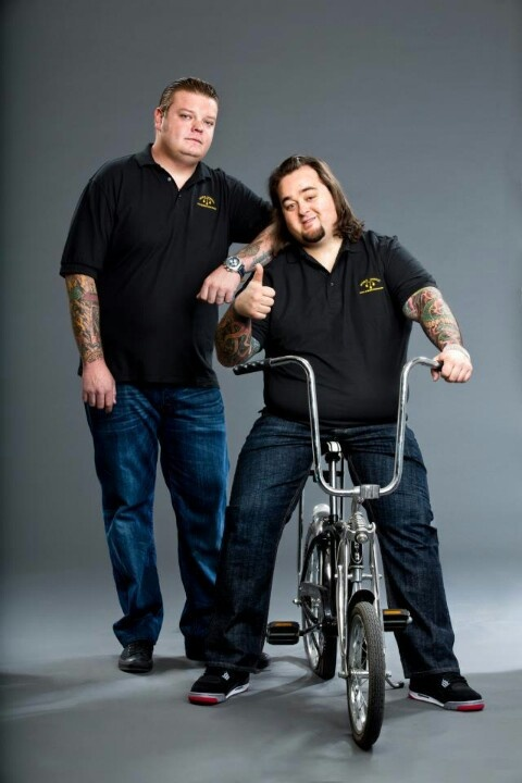 Pawn stars...Corey and Chumlee.