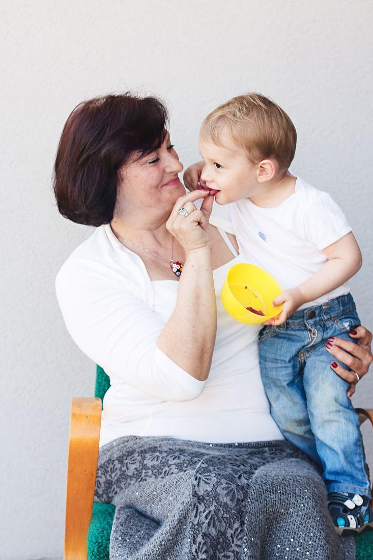 Me and my grandmother eating Nordic Foodie snacks