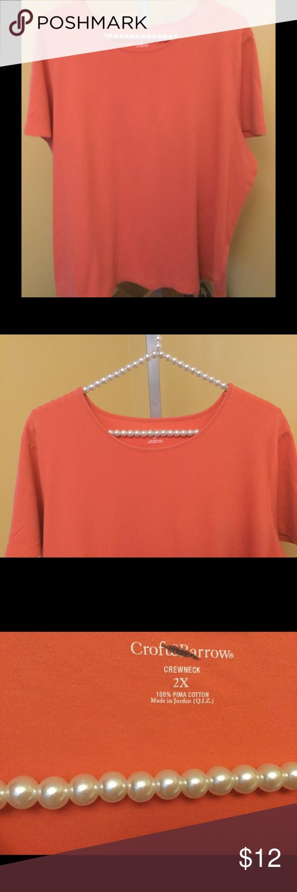 Comfy Orange Blouse Comfy Orange Blouse  Nice blouse crew neck would look cute with a pair of capris! Like new freshly laundered! Con-701                              ♡GOD BLESS♡                    ☆BUNDLE AND SAVE 5%☆              ♡ASK I WILL REPLY PROMPTLY♡       ☆SHARE & FOLLOW I WILL DO THE SAME☆    ☆REASONABLE OFFER'S ALWAYS WELCOMED☆ croft & barrow Tops Blouses