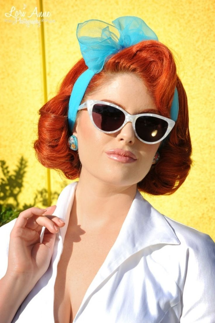 Pinup Couture - 1950s Vintage Style Sheer Hair Scarf in Baby Blue by Illegal Leopard