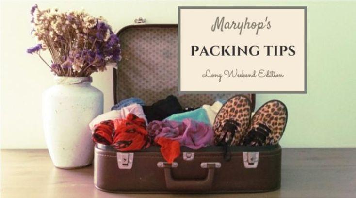 Packing Tips για το Τριήμερο