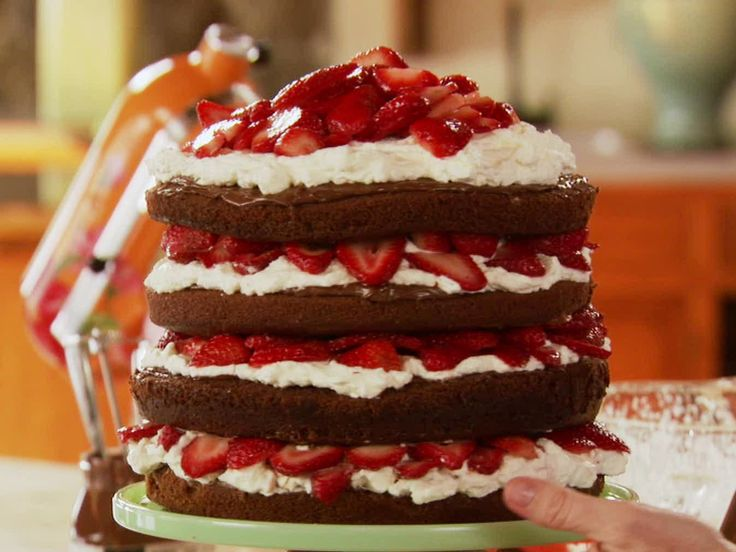 Strawberry Chocolate Layer Cake from Pioneer Woman. One of the best cakes that I have ever eaten!