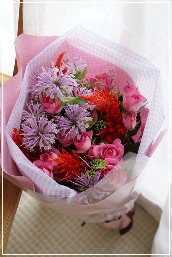【今日の贈花】ピアノ教室 発表会用のお花|Flower note の 花日記 (横浜・上大岡 アレンジメント教室)