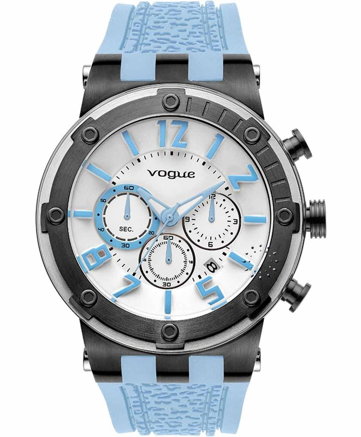 VOGUE Feeling Chrono Light Blue Rubber Strap Η τιμή μας: 194€ http://www.oroloi.gr/product_info.php?products_id=31613