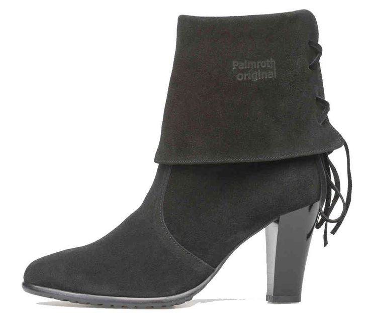 Palmroth high heel short boot black suede - Palmroth Shop