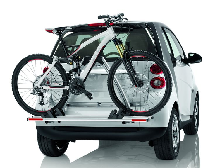 Great Bike Rack For A Tiny Car. Love How It Attaches At Two Points, Up  High, For Stability!