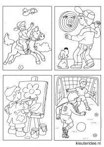 Kleine kleurplaatjes voor jongens, kleuteridee.nl , deze kleurplaatjes maken kleuters echt af ;), free printable.