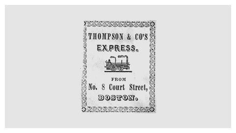 Railroad company logo design -THOMPSON & CO'S EXPRESS (1845)