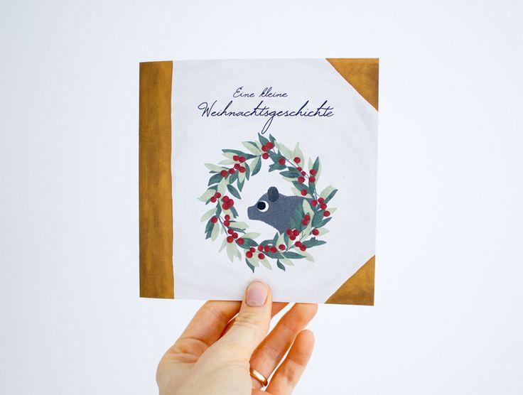 Kleine Weihnachtsgeschichte // illustrated christmas story via DaWanda.com