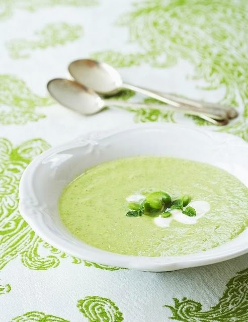 Sweet pea & chèvre soup | British House of Commons | Pinterest