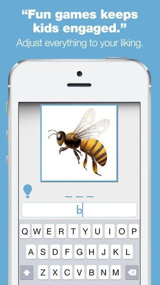 Bitsboard Spelling Bee bygger på bitsboard. Man kan hente de samme boards. her er der fokus på stavning, så de boards, der er på dansk kan bruges her til at øve stavning ud fra. Appen er gratis.