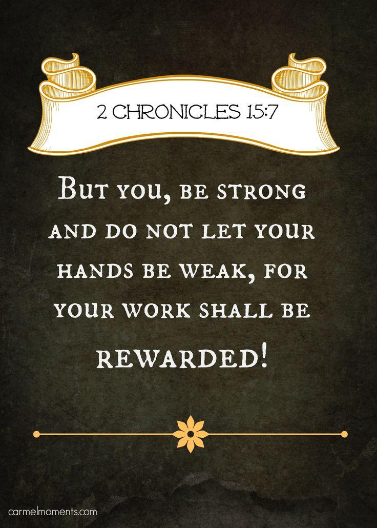 The 25+ best 2 Chronicles 15 7 ideas on Pinterest   Jesus girl ...