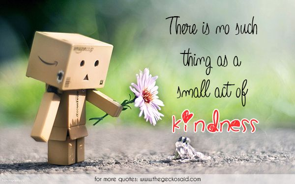 There is no such thing as a small act of kindness.  #act #kindness #quotes #small #thing
