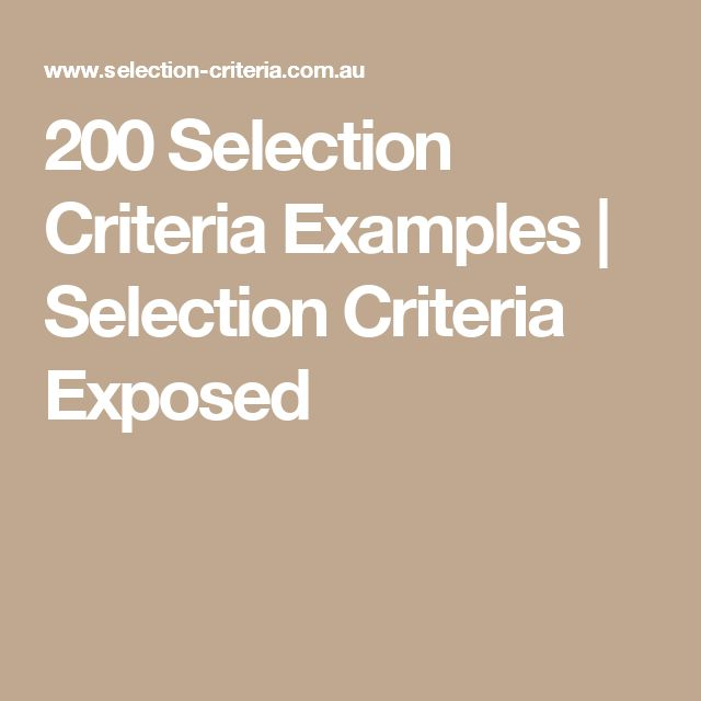 Selection Criteria Cover Letter: 36 Best Selection Criteria Images On Pinterest