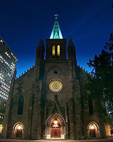 St. Patricks Basilica, Montreal was completed in 1847 and was designed by P.L Morin and Felix Martin.