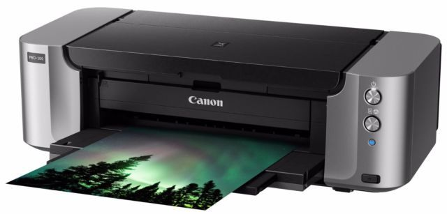 New Canon Pixma PRO-100 Digital Photo Color Professional Inkjet Printer w/ Inks