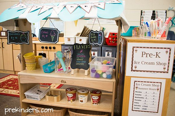 Ice Cream Shop Dramatic Play: Preschool Center