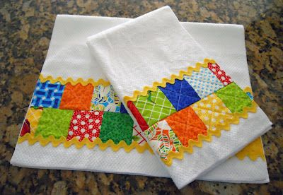 Diary of a Quilt Maven: Petits Four Towels Tutorial