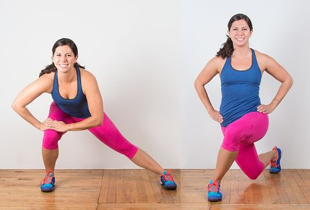 Side and Cross-Over Lunges