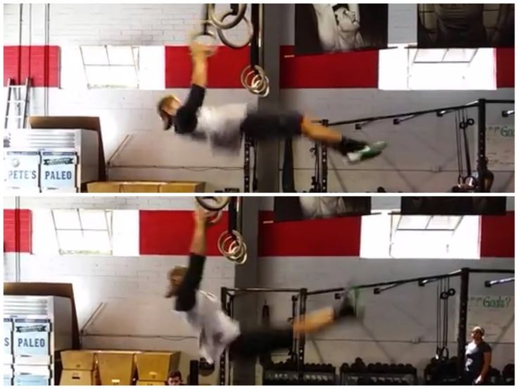 Muscle-Up Turnover: Hips Up Versus Toes Up ---- Coach Gaje demostrating toes to rings and hips to rings at CrossFit Invictus in San Diego