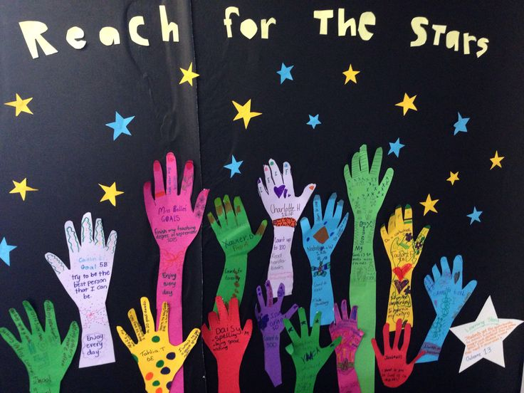 Better photo of my reach for the stars student goals activity