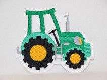 Stickapplikation/ Aufbügler Traktor ca.9,5x8 cm