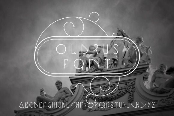 Oldrus vector linear font by Creativemaker on Creative Market
