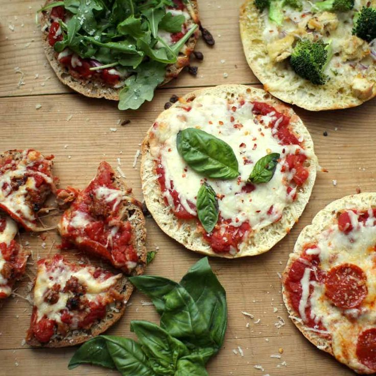 Mini pizzas can be made on pita bread in half the time. You can also make these right on a grill -- perfect tailgate food.
