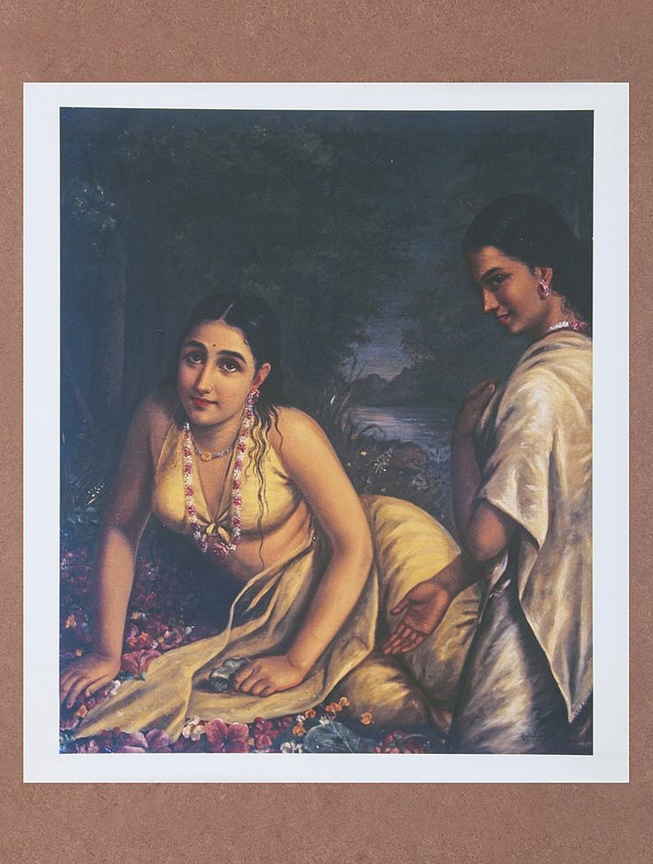 Buy Damayanti by Raja Ravi Varma Canvas Print Painting 22in x 19.6in Online at Jaypore.com