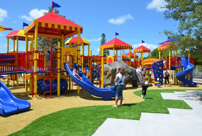 Downtown Urban Park In Sarasota At The Sports Festival At