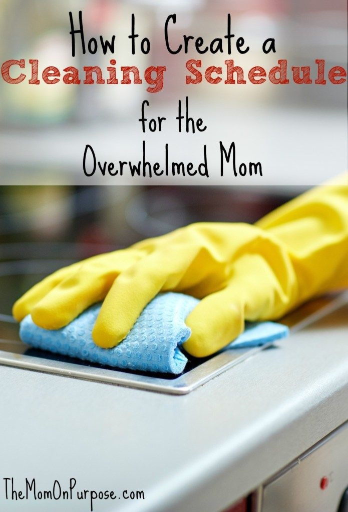Are you a frazzled and overwhelmed mom trying to just stay afloat? Find out how to create a cleaning schedule that will work for you!