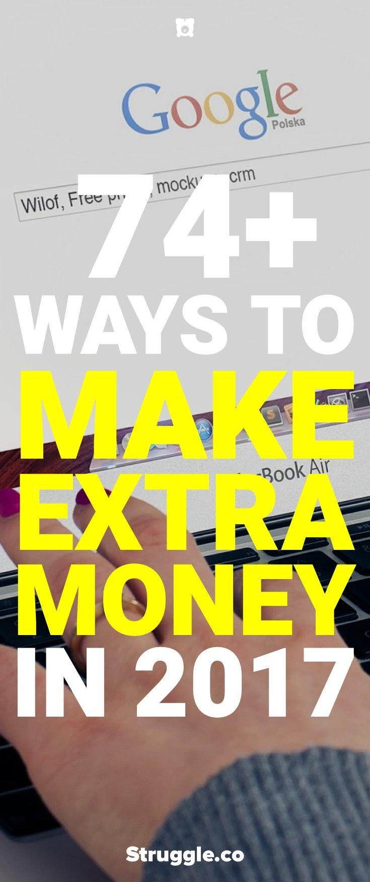 74 Ways to Make Extra Money Starting