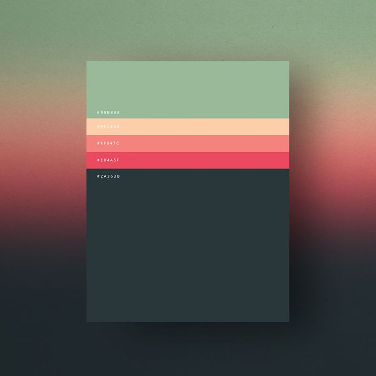 Italian creative agency Dumma Branding has done its research and came back with the most used color palettes of last year.