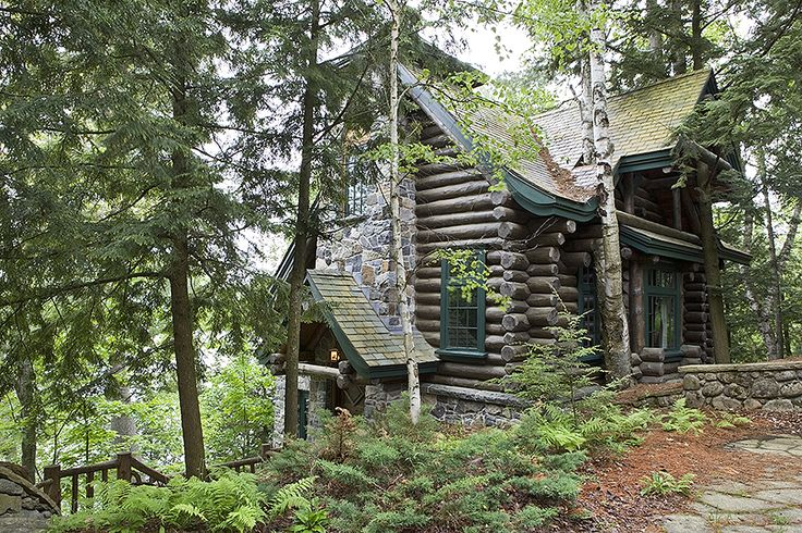 13 best adirondack style images on pinterest camps for Adirondack cabin builders
