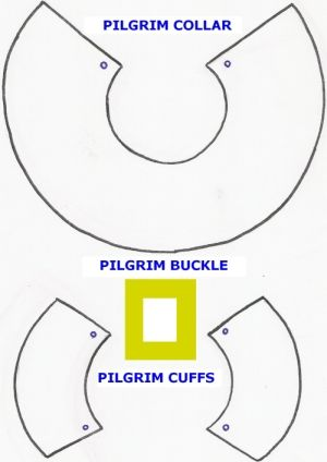 pilgrim pattern printables cut the pilgrim collar and cuffs from the white felt using the teaching ideas pilgrim costume thanksgiving costumes