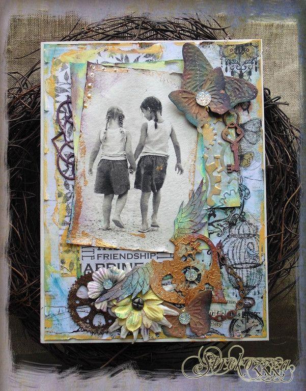 """Купить Открытка """"Крылья..."""" - разноцветный, крылья, день рождения, подруги, дорога, открытка, разнообразные"""