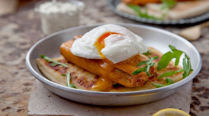Grilled Kippers with Poached Eggs, Potato Farl and Lemon Caper Horseradish Mayo. Start the day off right with this delicious, healthy and satisfying breakfast recipe!