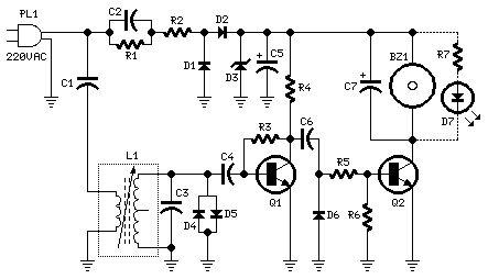 How to build Mains Remote-Alert (circuit diagram